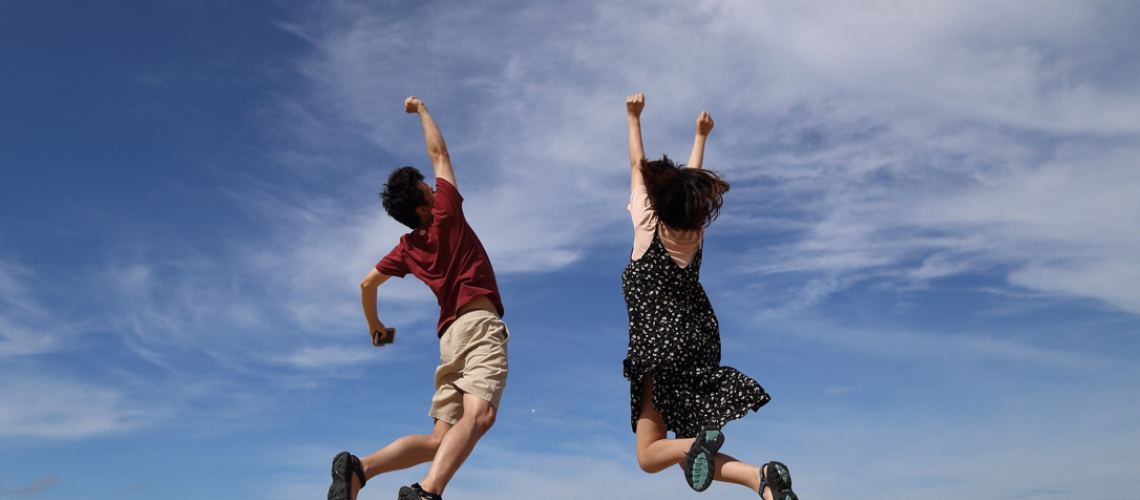Collagen People jumping pic